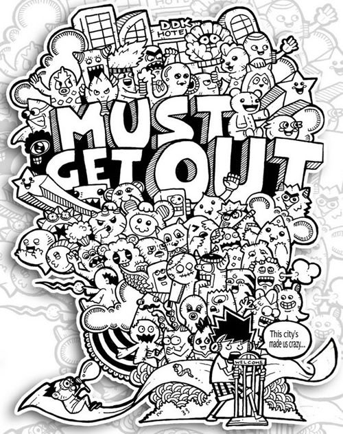 Graffiti Coloring Book 3 : 142 best the magical city coloring book images on pinterest