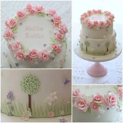 Tiers & Tiaras: Country Garden Christening Cake