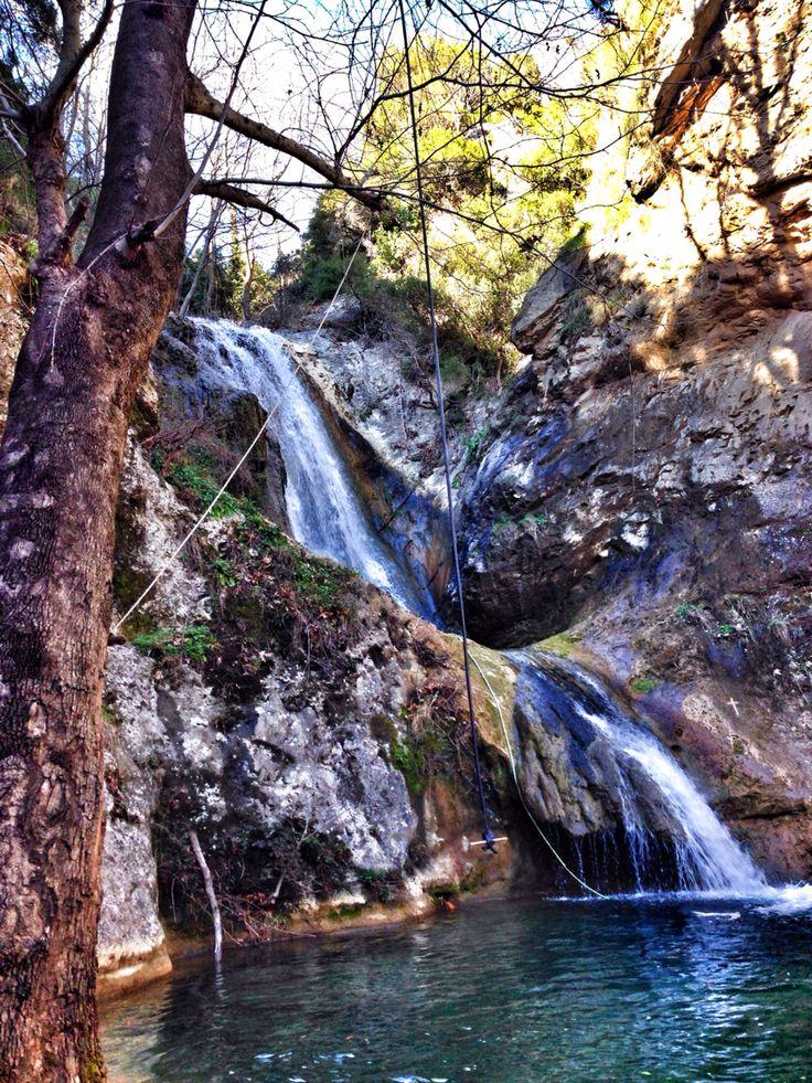Waterfall in Palia Kavala,Kavala,Greece