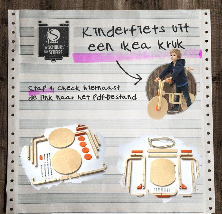 DIY - Ikeahacking•De Schuur van Scheire van kruk tot fiets