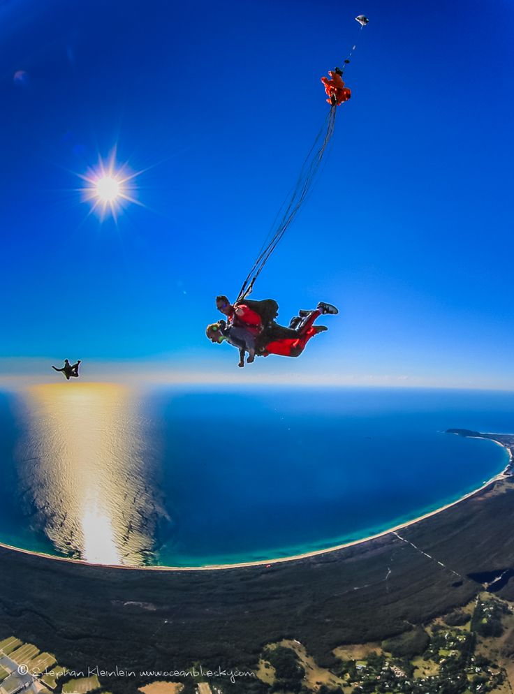 What a thrill! Taking a casual dive over stunning Byron Bay. #SkydiveAustralia #ByronBay #Australia #travel #adventure