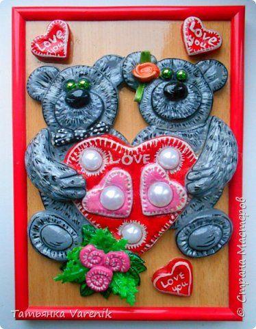Картина панно рисунок Лепка Любовь  Тесто соленое