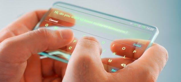 es un celular transparente