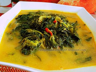 Resep Sayur Daun Singkong Santan | Resep Masakan Indonesia (Indonesian Food Recipe)