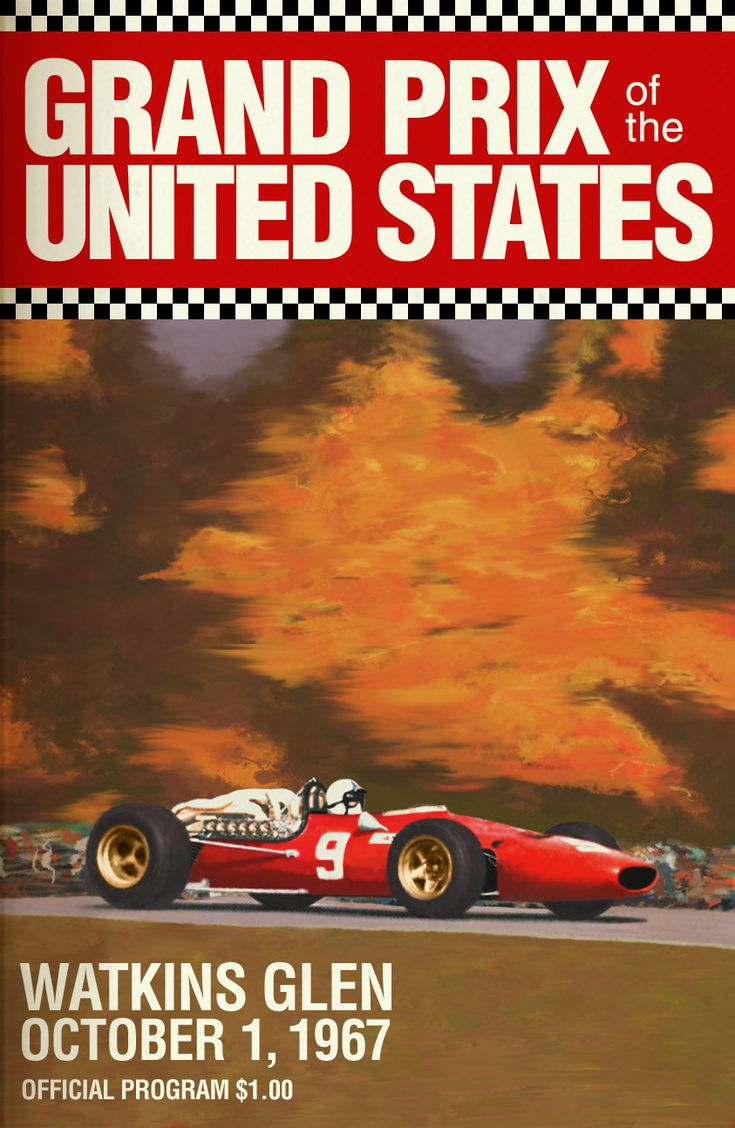 Cars silver racer poster 2 - 1967 Watkins Glen Movie Posterscar