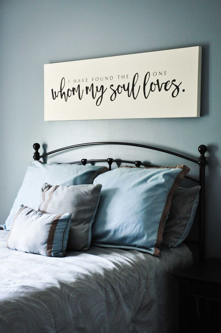 I Have Found The One Whom My Soul Loves Sign, Song Of Solomon Sign, Master Bedroom Sign, Calligraphy, Wedding Quote Sign by TheWallPoet on Etsy https://www.etsy.com/listing/398220725/i-have-found-the-one-whom-my-soul-loves