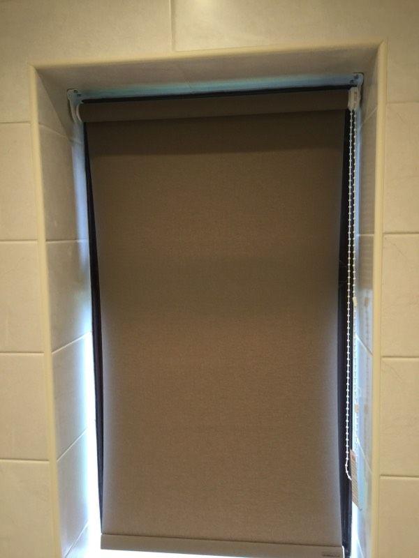 Roller blinds for a new bathroom, Stafford www.blindsstafford.co.uk