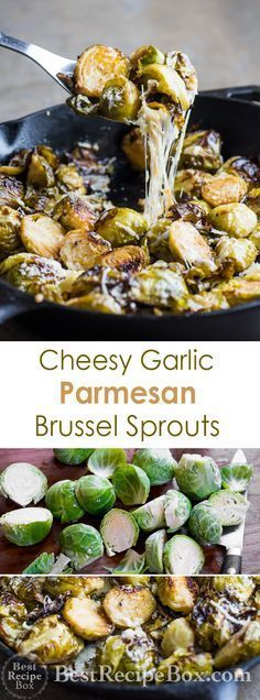 Cheesy Brussel Sprouts with Garlic and Parmesan | @bestrecipebox