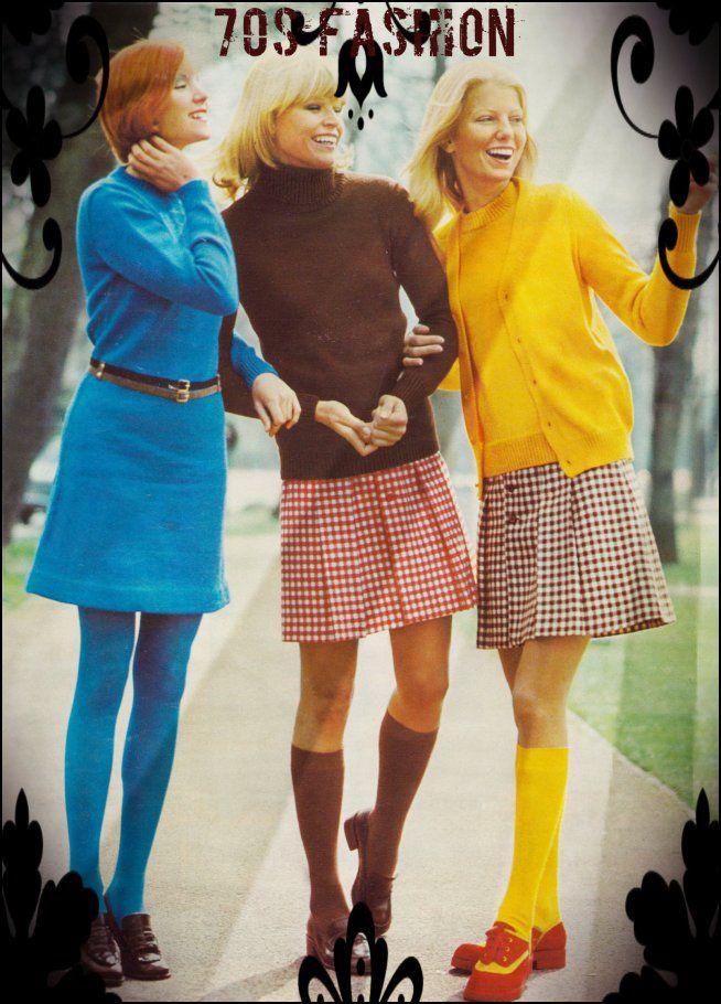 gingham skirts cool 70s fashion retro 70s fashion. Black Bedroom Furniture Sets. Home Design Ideas