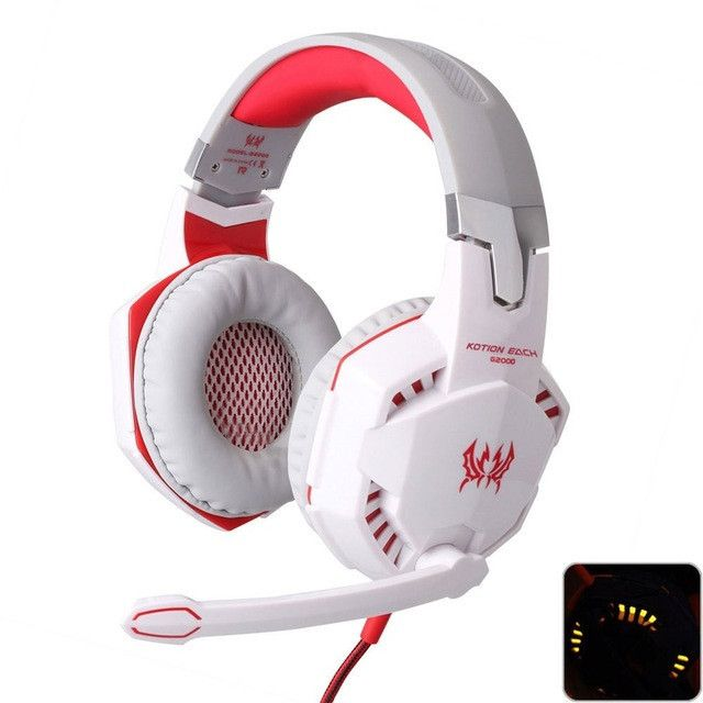 Deep Bass Game Headphone Stereo Surrounded Over-Ear Gaming Headset Headband Earphone with Light for Computer PC Gamer