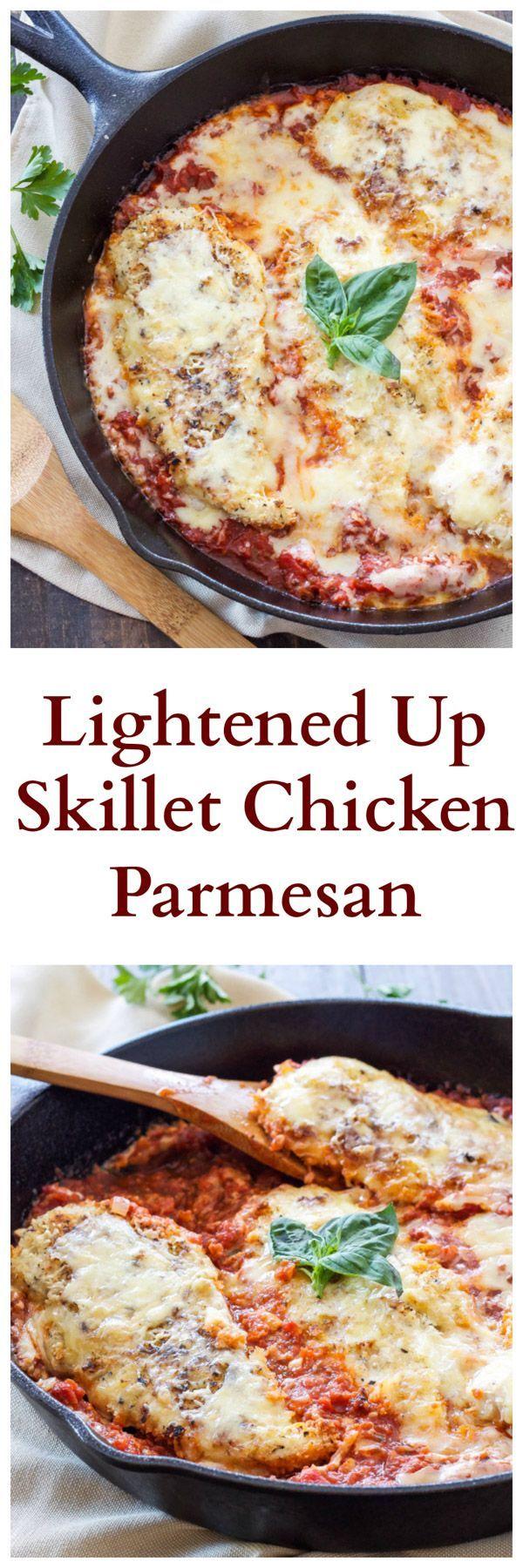 Lightened Up Skillet Chicken Parmesan |
