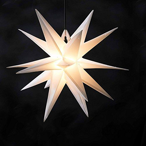 die besten 25 weihnachtsstern beleuchtet ideen auf pinterest weihnachtsdekoration stern. Black Bedroom Furniture Sets. Home Design Ideas