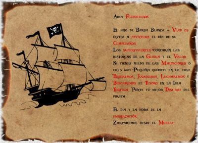 Crear Invitación Fiesta Pirata