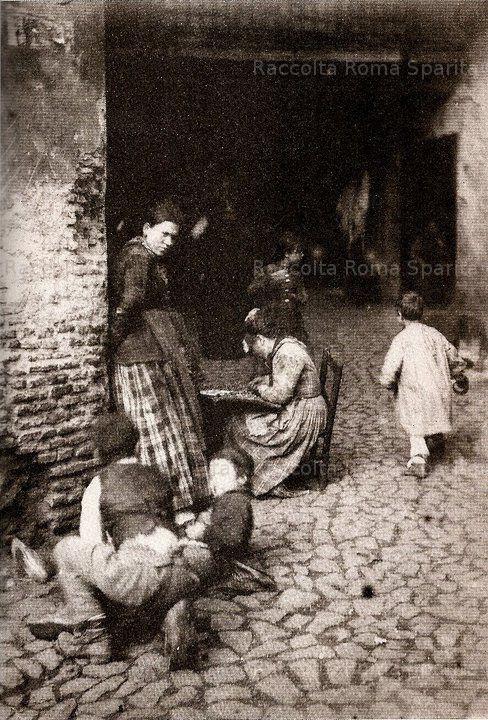 vicolo al ghetto ebraico, 1885