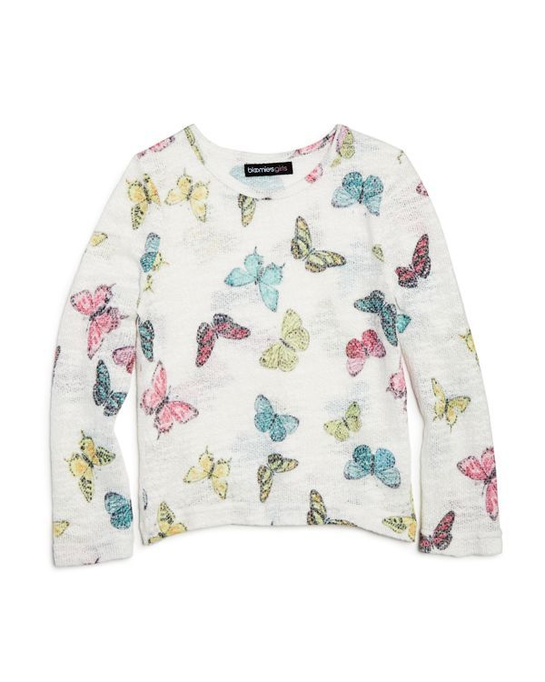 Bloomie's Girls' Butterfly Sweater - Sizes 2-6X