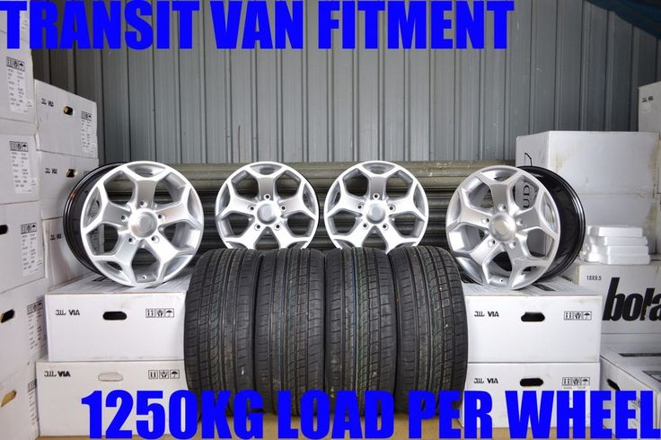 "18"" ALLOY #wheels  & #tyres  #ford  TRANSIT MK6 MK7 MK8 LOAD RATED 1250KG #silver  5x160"