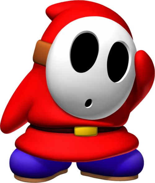 Shy Guys- what's behind the mask? Only Luigi knows. ;)