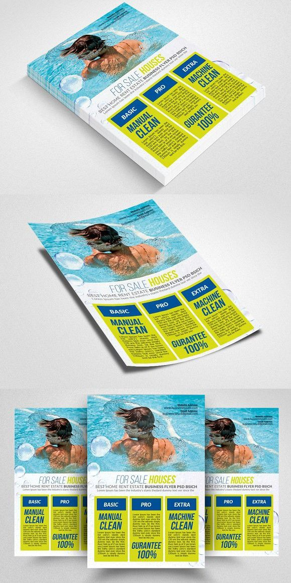 Pool Cleaning Service Flyer Flyer Templates Pinterest Pool