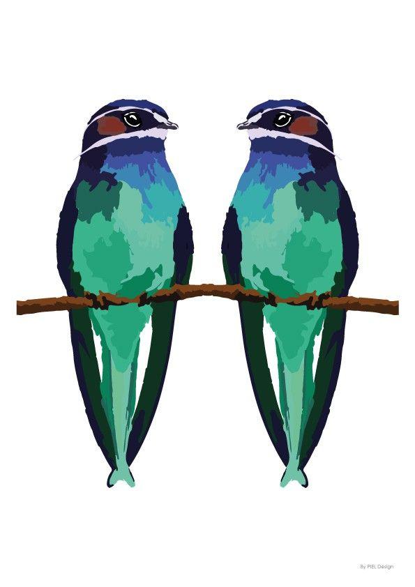 Green couple - Piel Design - Nordic Design Collective
