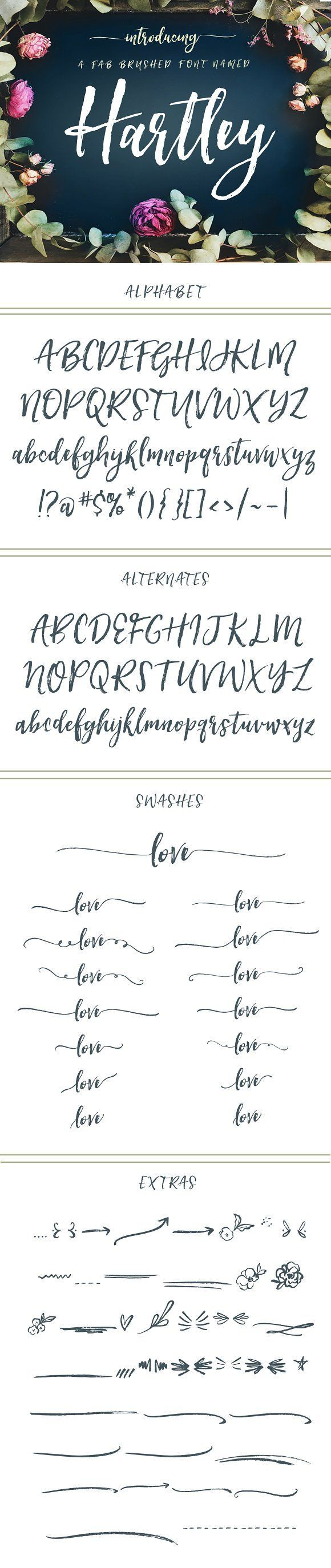 Hartley Font  by Angie Makes on @creativemarket