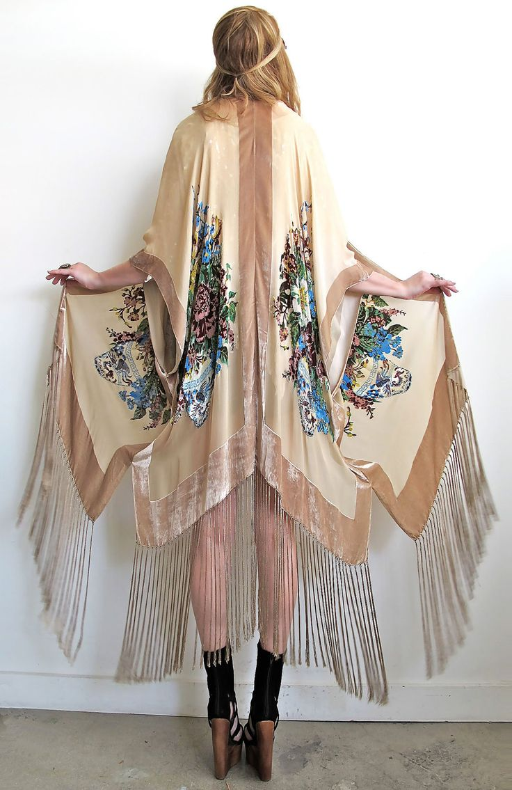 silk kimono/caftan bohemian style