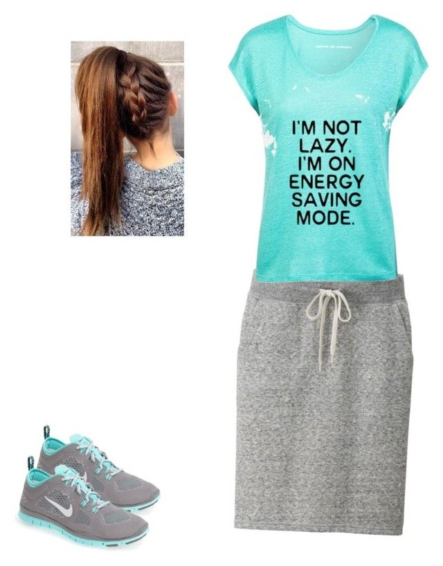 """""""Modest exercising outfit!!!"""" by kendra-03 ❤ liked on Polyvore featuring Uniqlo, Comptoir Des Cotonniers and NIKE"""