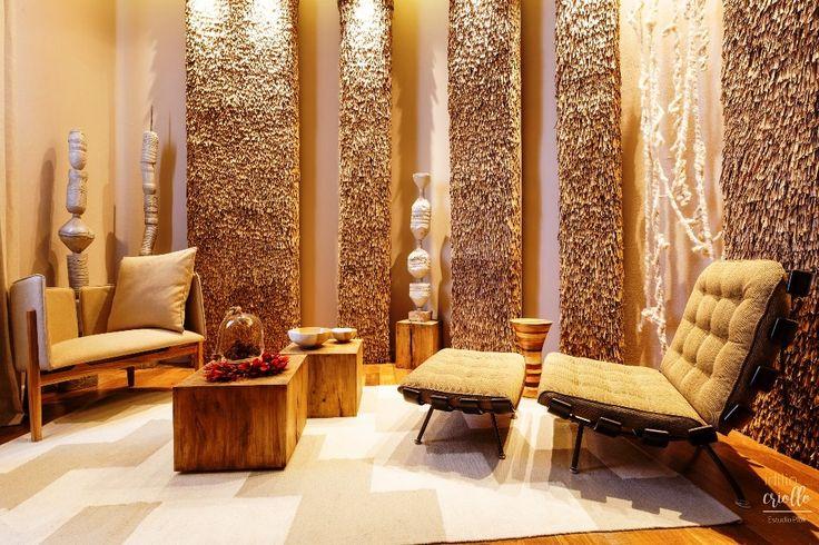 Casa FOA 2016 – Idilio Criollo, el espacio creado por Estudio Plok para el que tejimos una alfombra inspirada en el diseño de guarda pampa.