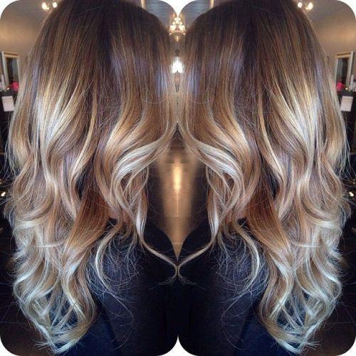 blonde balayage für braunes Haar