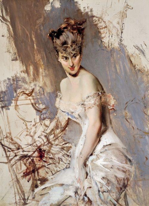 """""""Portrait of Alice Regnault"""" - 1880, Giovanni Boldini (Italian, 1942-1931)."""