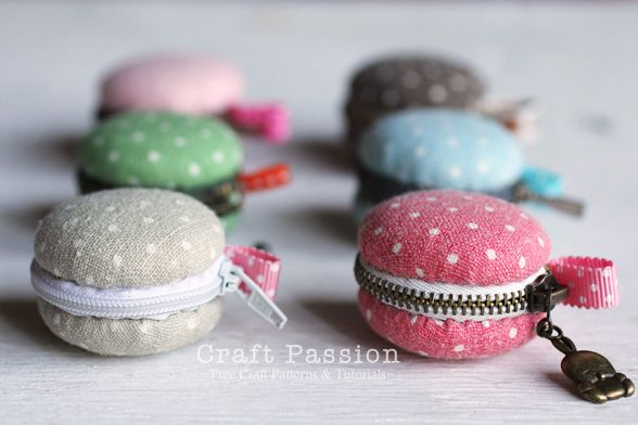 Sew macaron coin purse - very nice tutorial. A cute idea but
