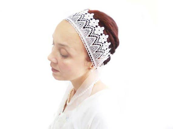 Handmade bridal headband wedding fascinator lace wedding