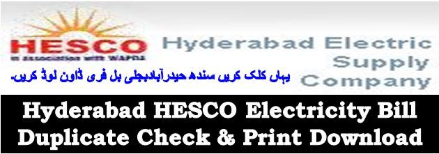 Hyderabad HESCO Electricity Bill Duplicate Check & Print Download http://www.biseworld.com/hyderabad-hesco-electricity-bill-duplicate-check-print-download/