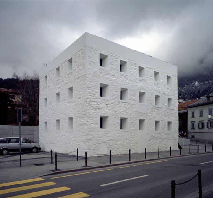 The Yellow House by Valerio Olgiati