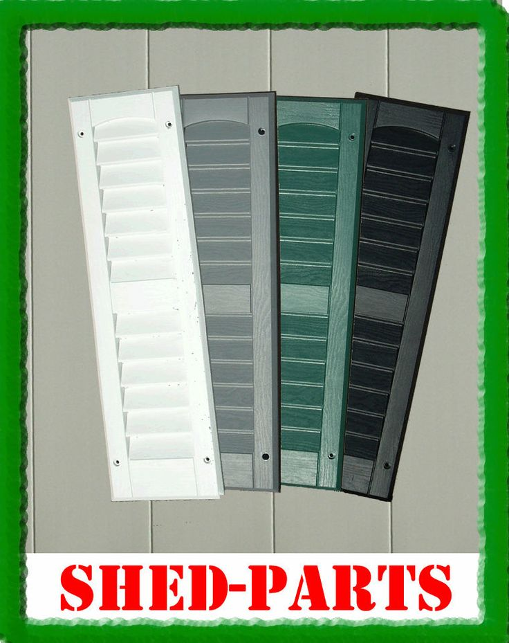 """6""""x21"""" SHED SHUTTERS  PLAYHOUSE PLASTIC PLAY HOUSE WINDOWS HINGES PARTS"""