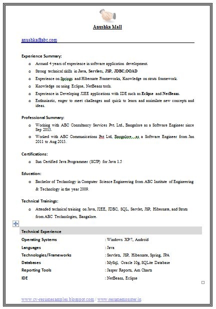 Cv Computer Science Doc  Templates