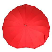 Gratis verzending 2014 Fashion Hot Koop Wedding Umbrella Red Parasol Vrijgezellenfeest Umbrella (China (vasteland))