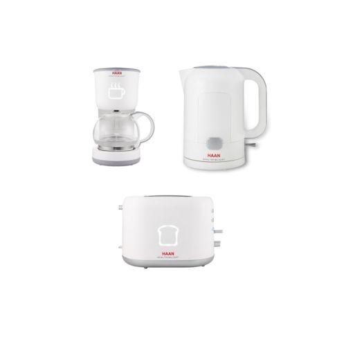 [HAAN] Toster HT-500 / Wireless Electric Pot HP-500 / Coffee Maker HC-500 Set