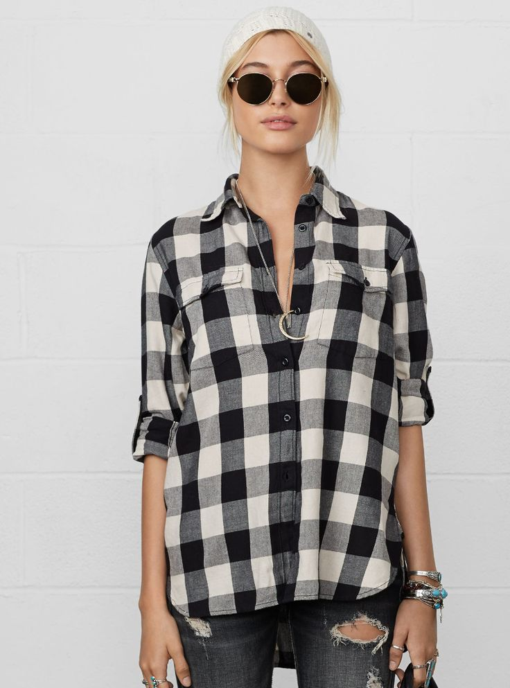 Layers for fall: This Denim and Supply rugged plaid surplus shirt is made from soft cotton and features a relaxed fit and a cool plaid pattern.