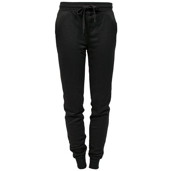 ALEXANDER WANG T French Terry Sweatpant ($250) ❤ liked on Polyvore featuring activewear, activewear pants, pants, bottoms, jeans, sweatpants, t by alexander wang, sweat pants, black sweatpants and cuff sweatpants