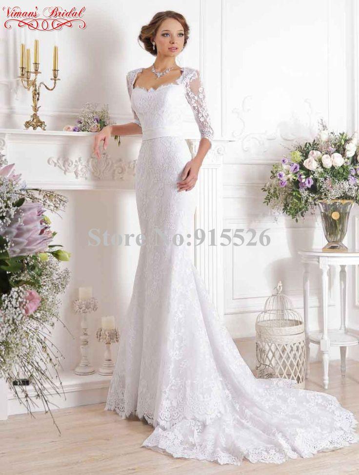 Viman свадебный свадебные платья Noiva эм ренда кружево половина рукава минимальный уровень пола русалка Gelinlik с бант AX83