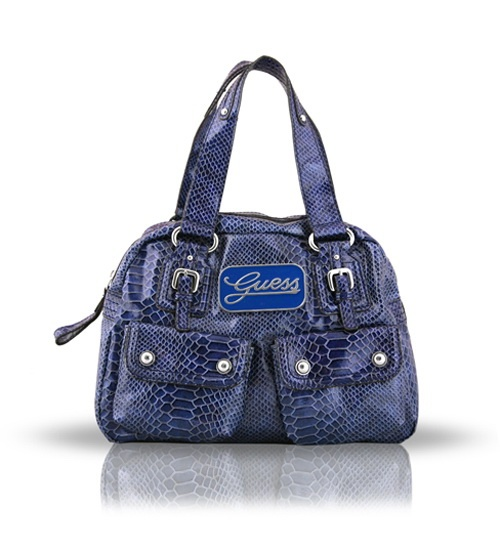 Guess Blue Python Tote on glamouronthego.co.uk