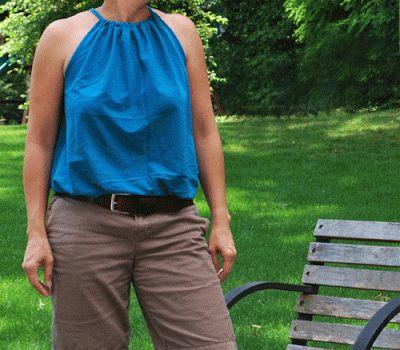 alamode Stuff: DIY: How to make a drawstring halter top/dress