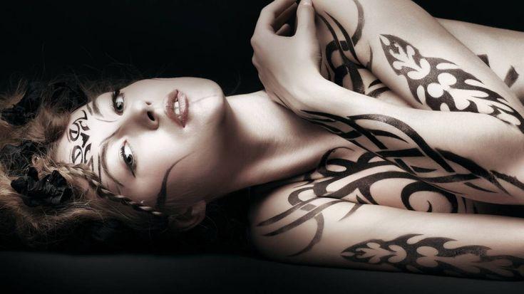 terrific tattooed girl wallpaper