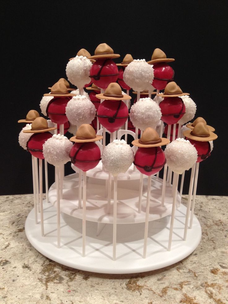 RCMP cake pops for wedding