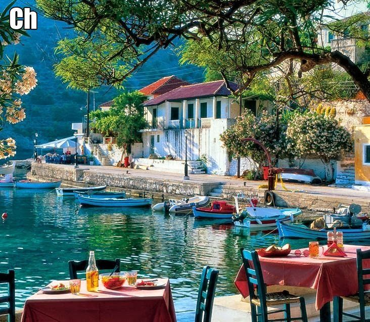 One of the prettiest places in Greece. 1999. Fiskardo, Kefalonia, Greece.
