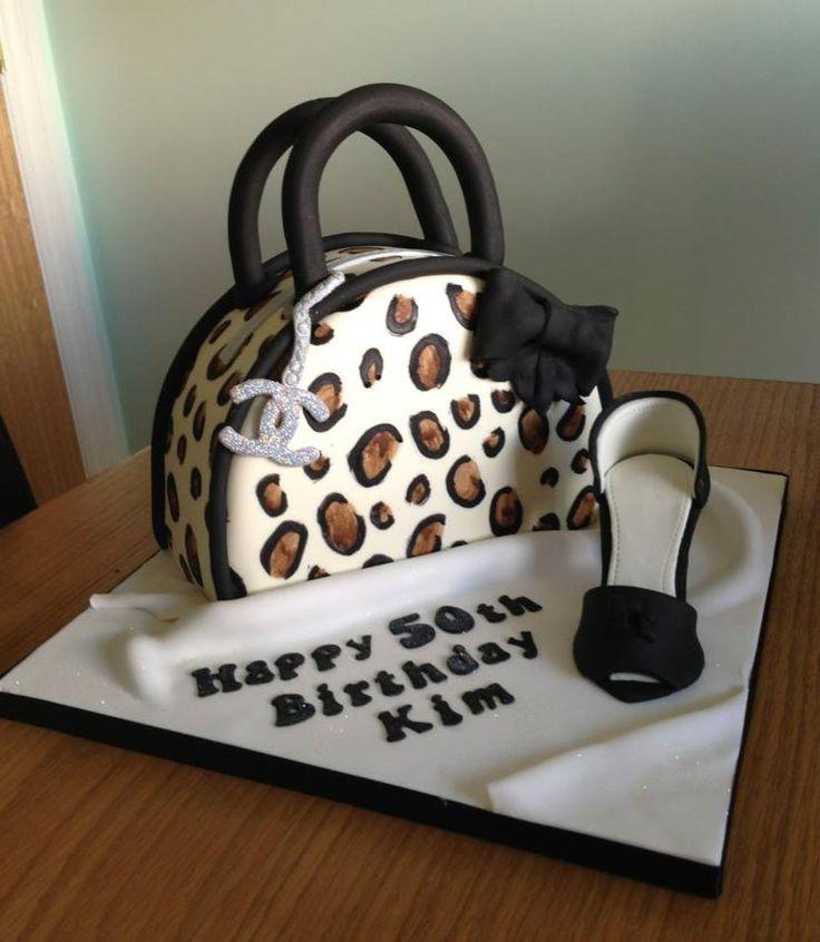 Leopard Print Bag Cake