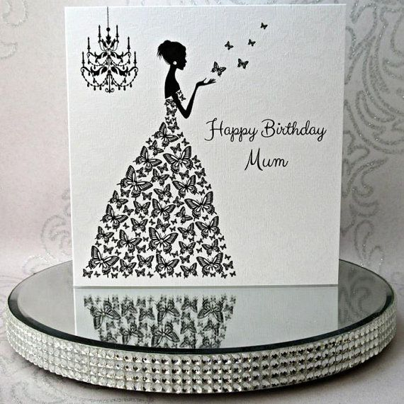 Luxury Handmade Personalised Birthday Card  Lady by ChiChiCards #promotingwomen