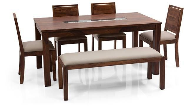 Brighton Large Oribi 6 Seater Dining Table Set With Upholstered Bench 6 Seater Dining Table Dinning Table With Bench Dinning Table Design