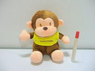boneka monyet baby milo,boneka binatang lucu