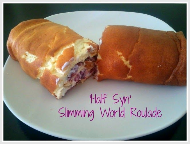 1/2 syn Slimming World roulade - surprisingly easy to make and delicious. Well worth the effort for just 1/2 syn for the WHOLE CAKE!